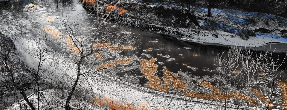 A touch of gold on the Smoky Hill River