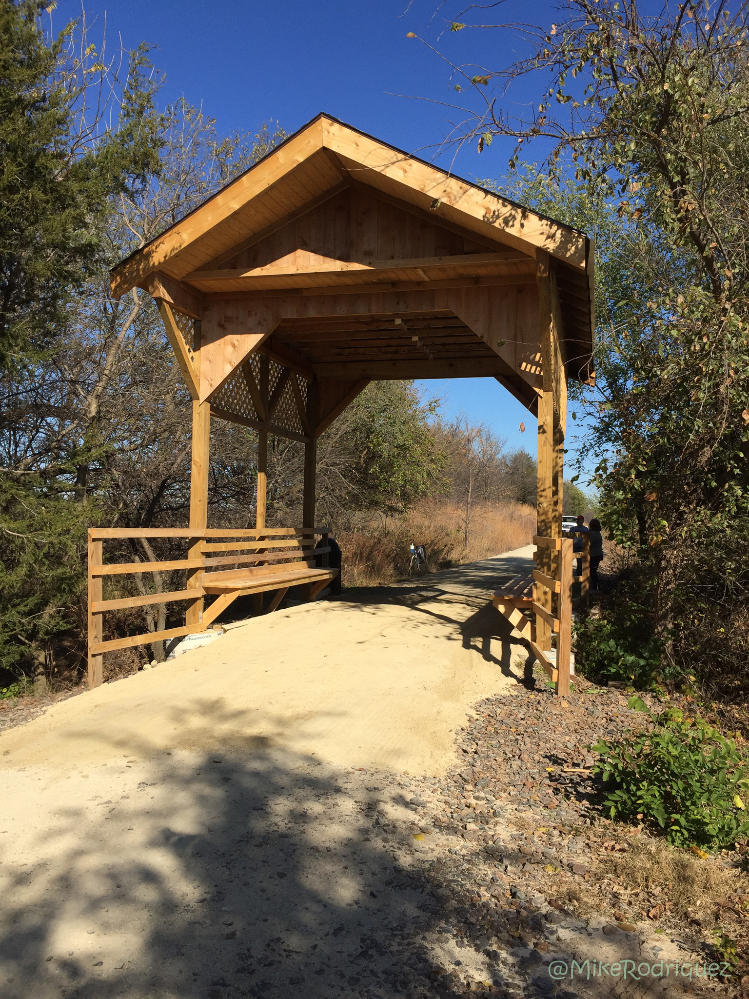Covered bridge on the Meadowlark Trail